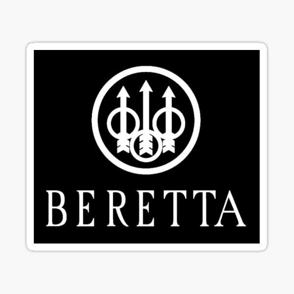 Beretta Firearms Logo Noir Sticker