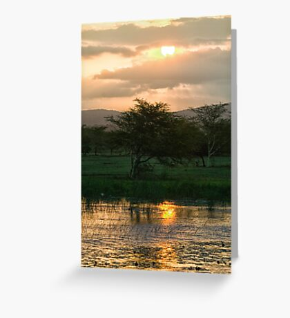 Sunset Over The Mzinene River Greeting Card
