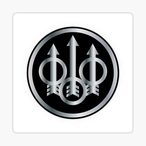 Beretta Firearms Logo Gris Sticker