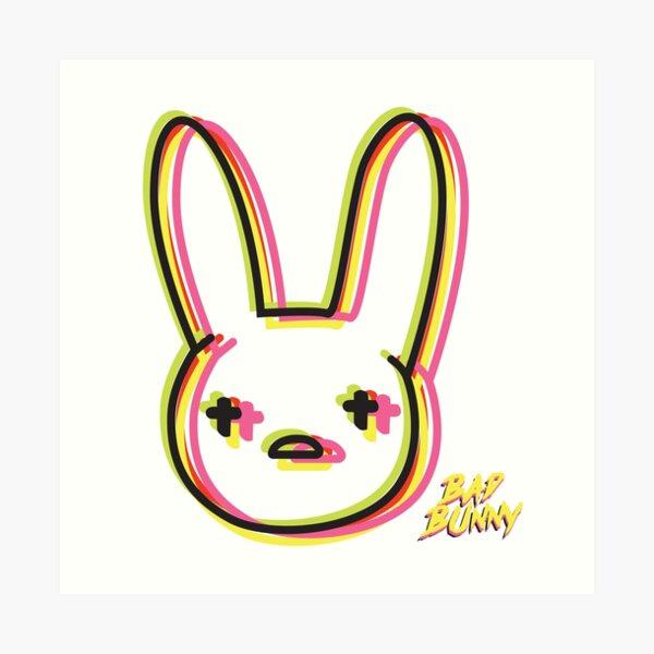 """bad bunny neon "" Art Print by DanielaRdzG | Redbubble"
