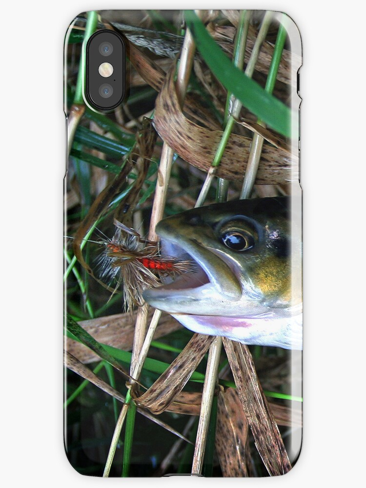 """""""Brown Trout Blues iPhone case by James Lady"""