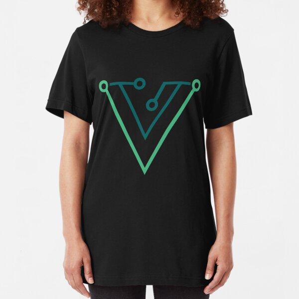 Vue Retro Style Slim Fit T-Shirt