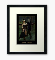 Double Trouble (Mog & Damara) Framed Print