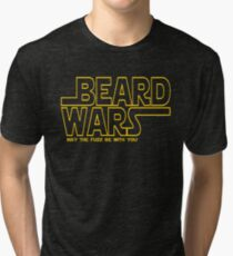Beard Wars May The Fuzz Be With You Men's Funny Beard Sci-fi  Tri-blend T-Shirt