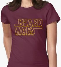 Beard Wars May The Fuzz Be With You Men's Funny Beard Sci-fi  Womens Fitted T-Shirt