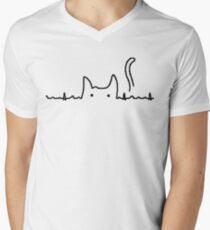 Camiseta para hombre de cuello en v Gato