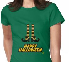 Witch Shoes Happy Halloween Womens Fitted T-Shirt