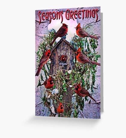 Winter Birdhouse Holiday Card Greeting Card