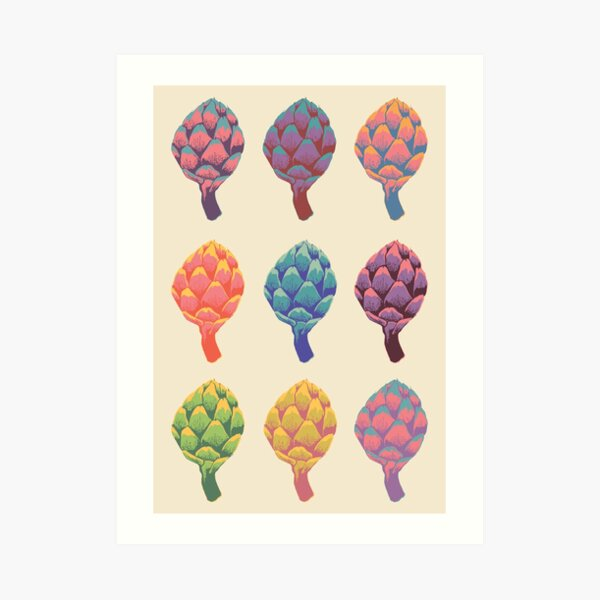 Elevated artichokes! Art Print