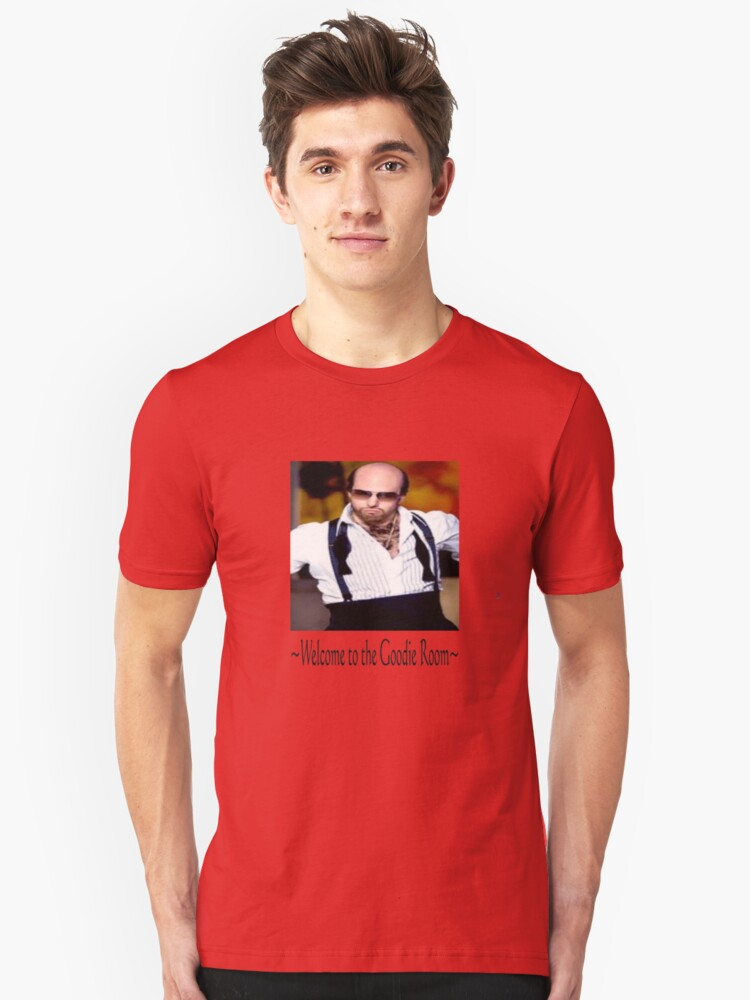 Les Grossman Welcome to the Goody Room Unisex T-Shirt Front