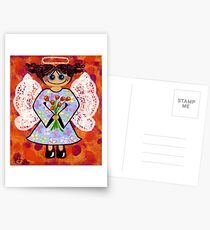 Groovey Angel - She's a hippy chick! Postcards
