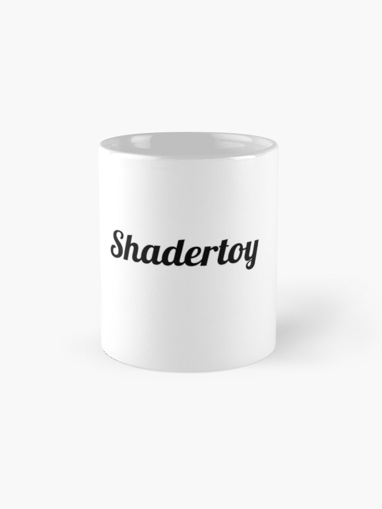 "Alternate view of Shadertoy ""vec3 col=(1.0,1.0,1.0);"" Mug"