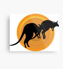 Kangaroos Running Metal Print