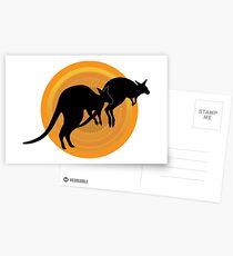 Kangaroos Running Postcards