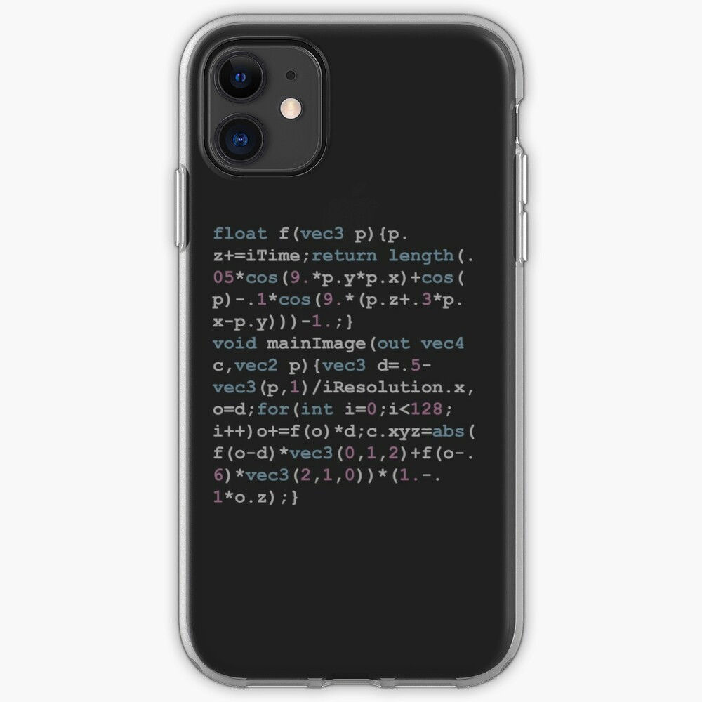 Shadertoy Size Coding iPhone Case & Cover