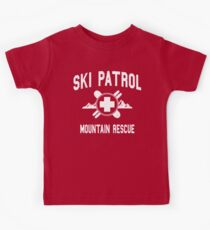 Ski Patrol & Mountain Rescue (vintage look) Kids Tee
