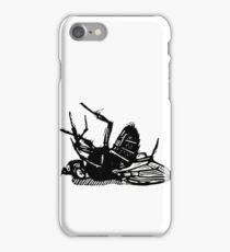 Dead Fly linocut iPhone Case/Skin