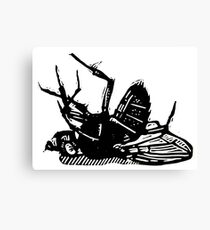 Dead Fly linocut Canvas Print