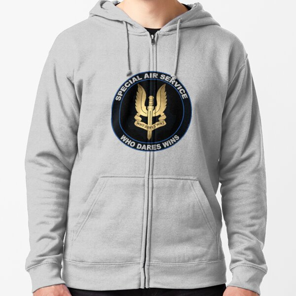 Special Air Service Logo Zipped Hoodie