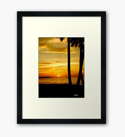 As the Sun Slowly Comes UP Framed Print