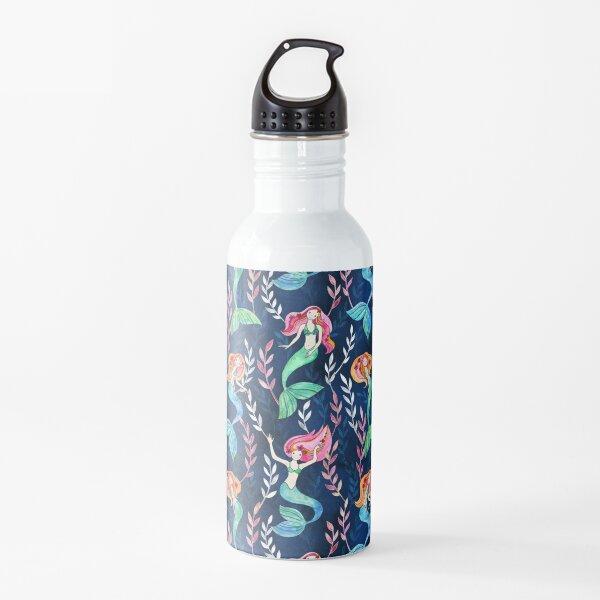 Merry Mermaids in Watercolor  Water Bottle