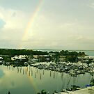 Rainbow over Cullen Bay, Darwin by Lynette Higgs