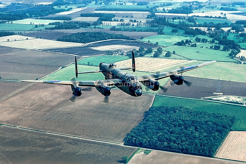 Lancaster B.1 PA474 over Folly Farm Wood by Colin Smedley