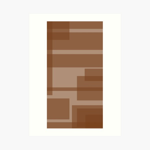 Amber Energy 2 - Merged Repeated Amber Rectangles Art Print
