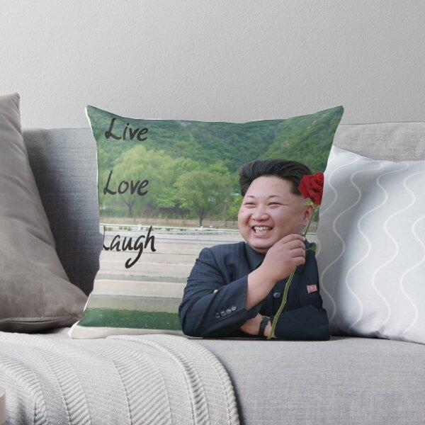 Kim Jong-un - Live Love Laugh Throw Pillow