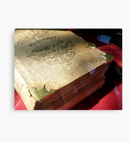 Antique Dutch Bible - Heilige Schrift Canvas Print