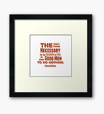 The Only Thing - Red Framed Print