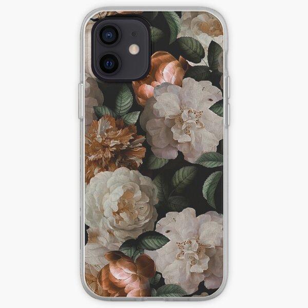 Antique Jan Davidsz. de Heem Lush Roses Flowers On Black Pattern iPhone Soft Case
