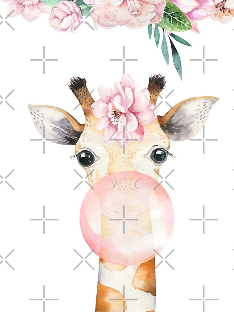 Flower Giraffe with Chewing Gum by UtArt