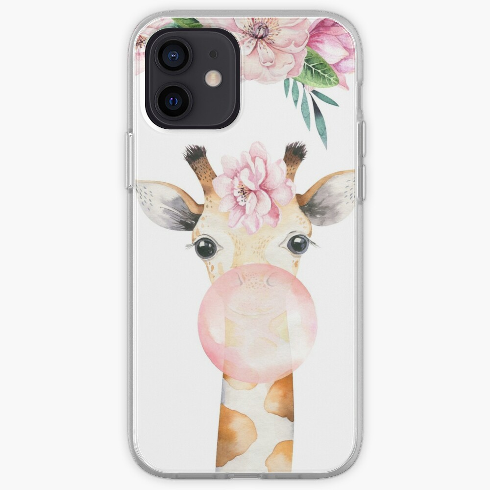 Flower Giraffe with Chewing Gum iPhone Case & Cover