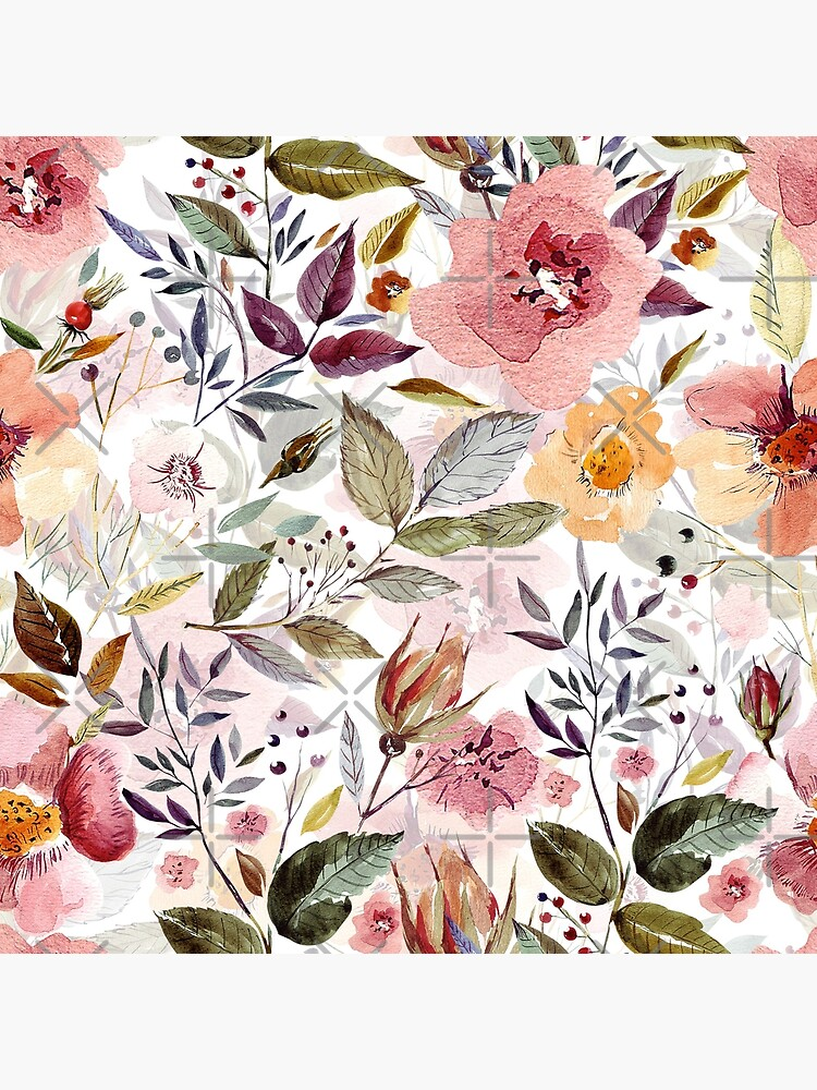 Forest Watercolor flowers by UtArt