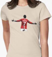 cristiano ronaldo Womens Fitted T-Shirt