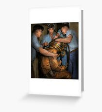 Steampunk - Diver - A load off my shoulders 1936 Greeting Card