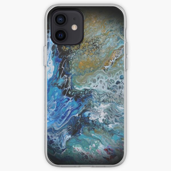 Fluid planet 3 iPhone Soft Case