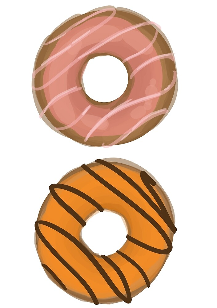 Pink & Yellow Donuts by TheSamm