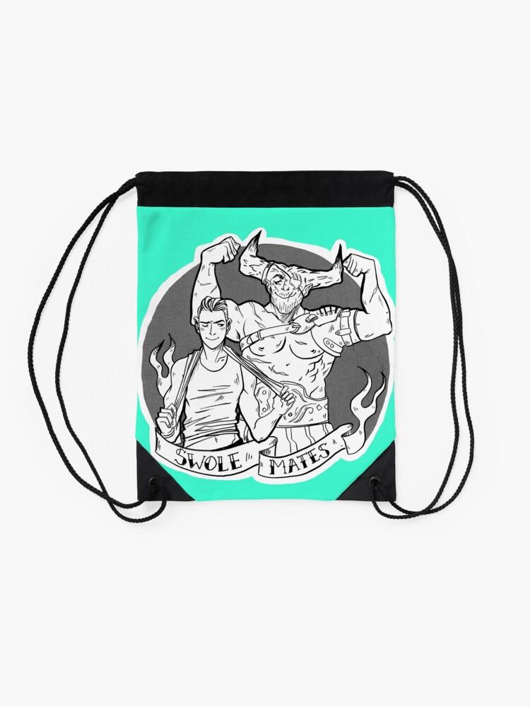 Alternate view of Swolemates Drawstring Bag