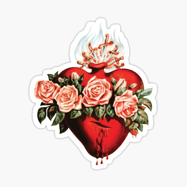 Immaculate Heart of Mary Vintage  Sticker
