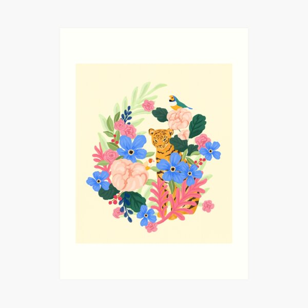 Botanical Tiger Art Print