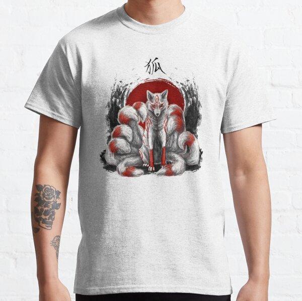 Japanese Nine Tailed Fox Kitsune Classic T-Shirt