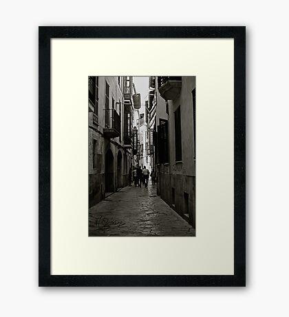 Streets of Palma de Mallorca . Spain. Doctor Faustus. 2015. Framed Print