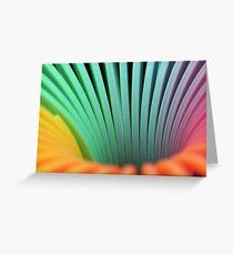 Rainbow Slinky Spring Greeting Card