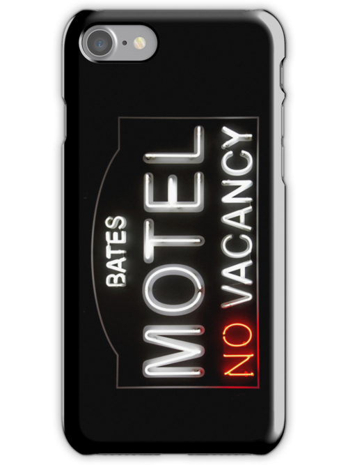 Bates Motel - Neon Sign - iPhone Case by Bryan Freeman