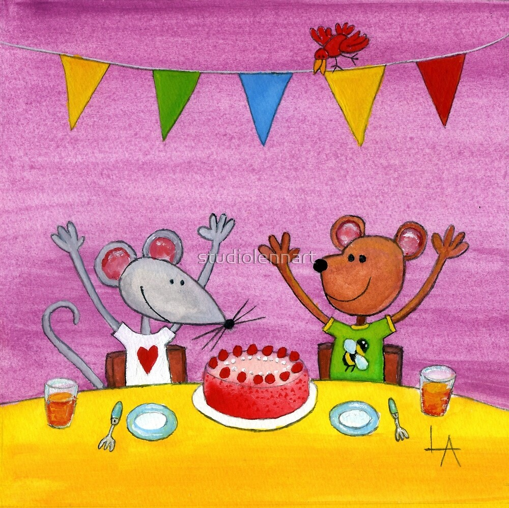 Mouse & Bear Party by studiolennart