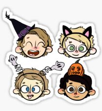 5sos floating heads- Halloween Sticker