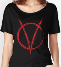 V is for Vendetta, W was for War.. Women's Relaxed Fit T-Shirt