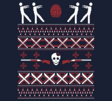 Zombie Christmas Shirt by Teo Zirinis